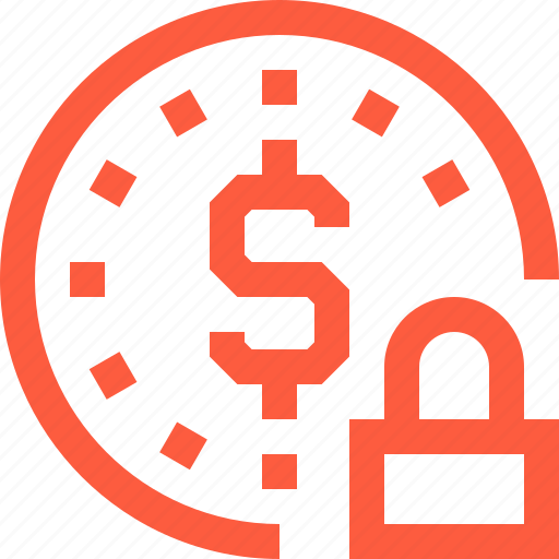 block, coin, crypto, currency, dollar, finance, lock icon