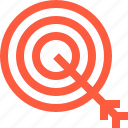 aim, arrow, bullseye, goal, objective, purpose, target icon
