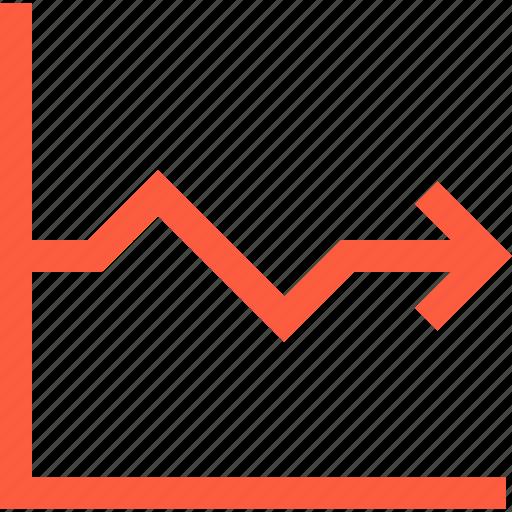 arrow, axes, chart, graph, index, statistics icon