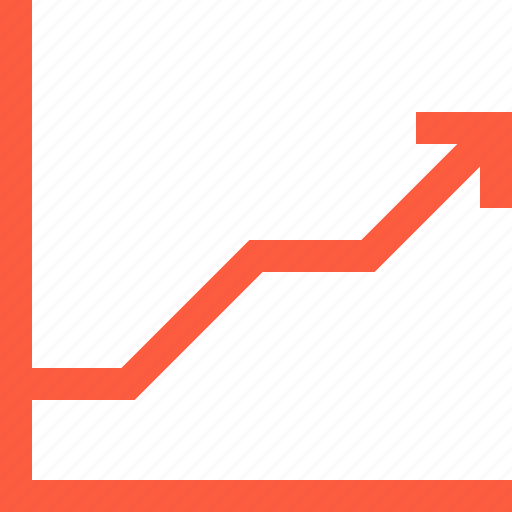 arrow, chart, graph, growth, index, rise, success icon