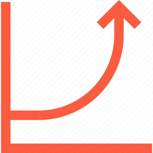 arrow, chart, graph, growth, index, stats, success icon