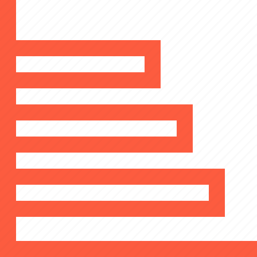 bars, data, graph, horizontal, index, info, stat icon