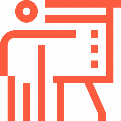 board, lecture, performance, presentation, show, speaker icon