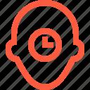 clock, deadline, person, profile, time, timer, user
