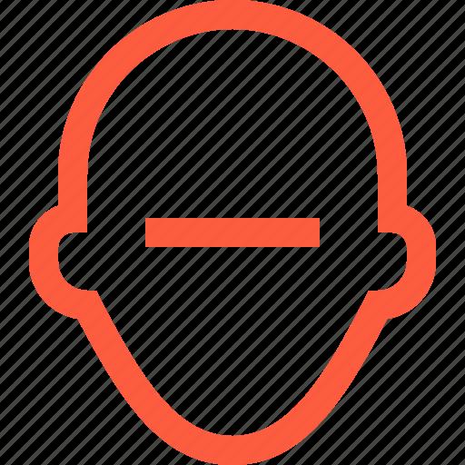 avatar, delete, person, profile, remove, user, userpic icon