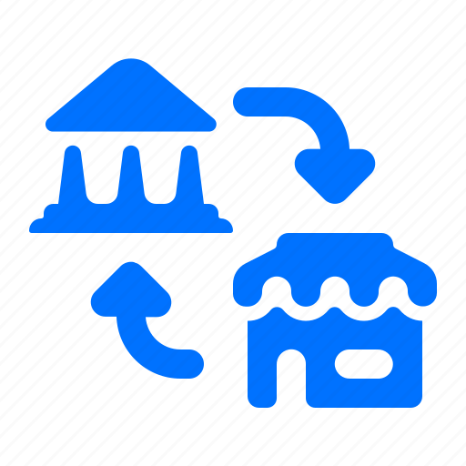 bank, store, transfer icon