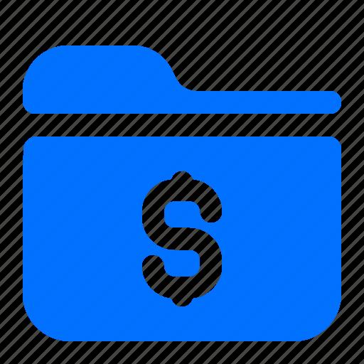 dollar, file, finance, folder icon