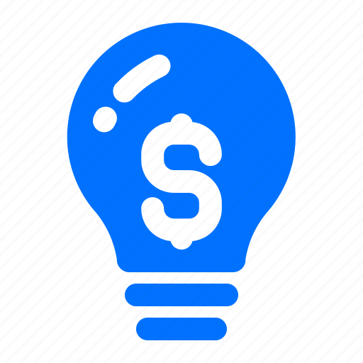 Currency, dollar, finance, lightbulb icon - Download on Iconfinder