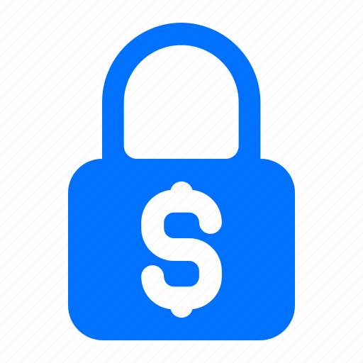 dollar, lock, protection, security icon