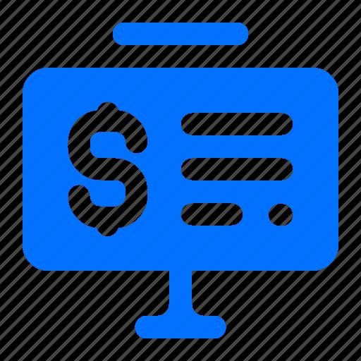 currency, dollar, finance, presentation icon