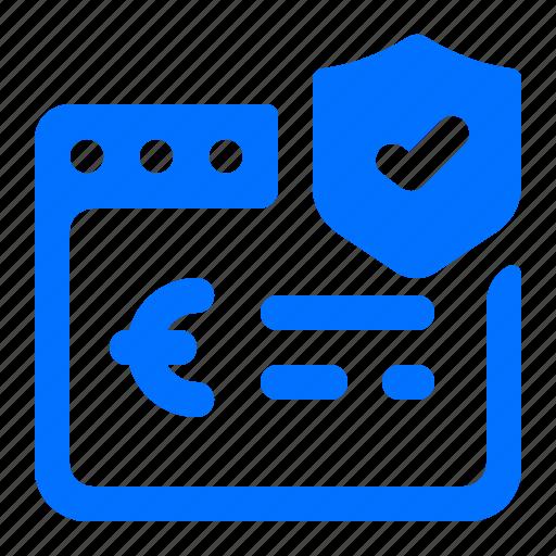browser, euro, security, web icon