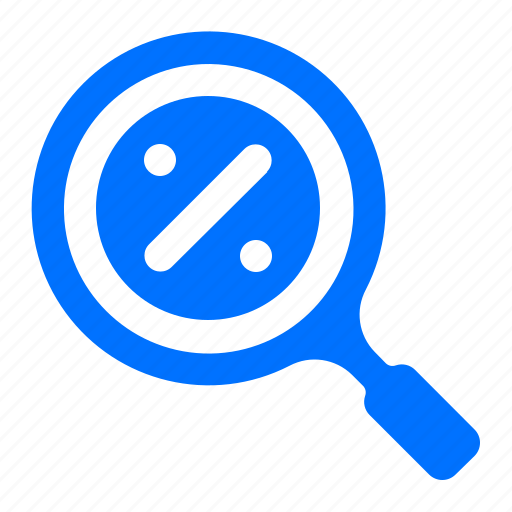 Find, percentage, sale, search icon - Download on Iconfinder