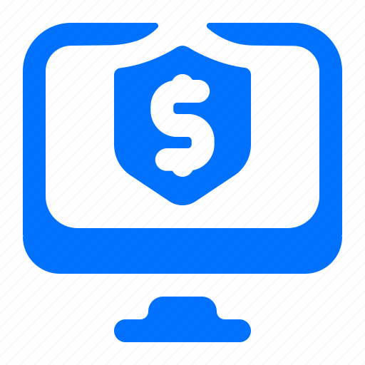 computer, dollar, monitor, security icon
