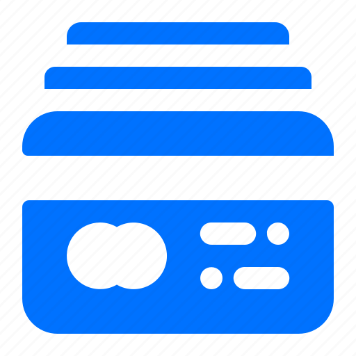 Credit, multiple, finance, card icon