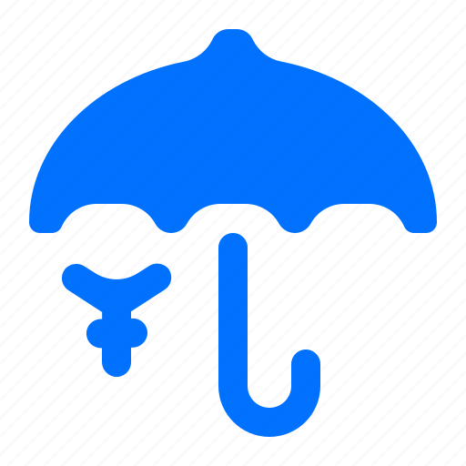 protect, security, umbrella, yen icon