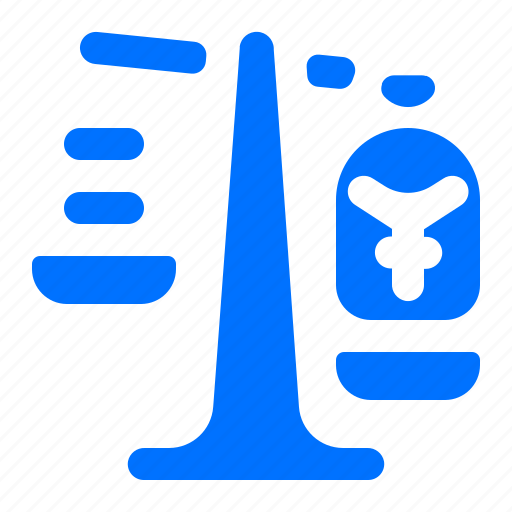 currency, scale, weigh, yen icon