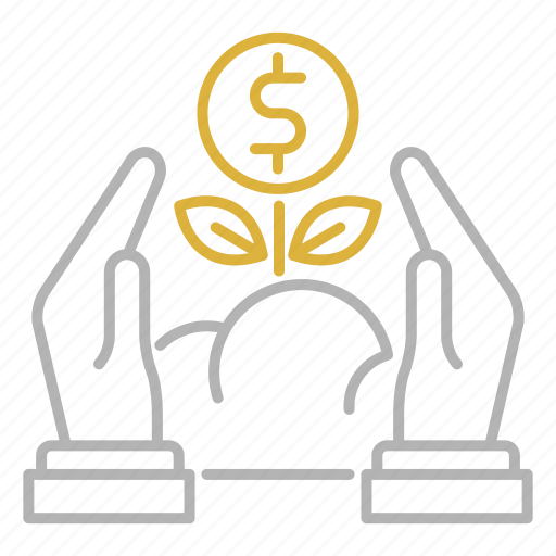 capital, financial, growth, investments, plant icon