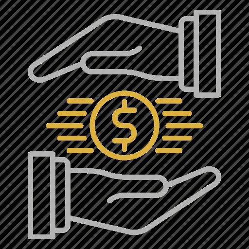control, financial, save icon