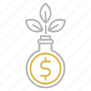 financial, funds, growth, investments icon