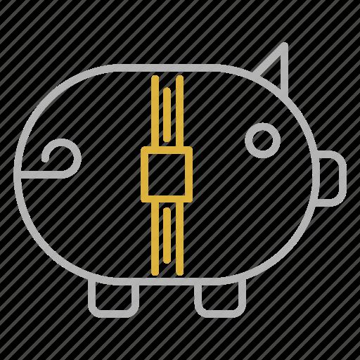 bank, financial, piggy, savings icon