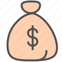 bag, dollar, funds icon