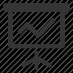 chart, diagram, graph, line graph, statistics icon