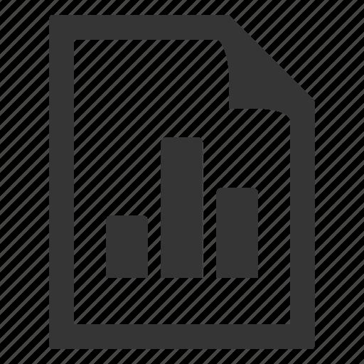 bar graph, chart, document, graph icon