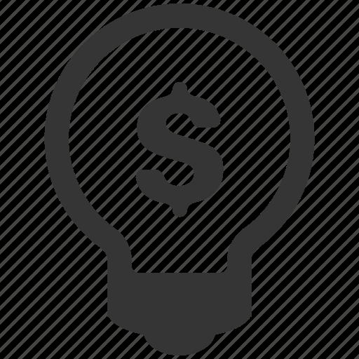 business, idea, lightbulb, marketing, money icon