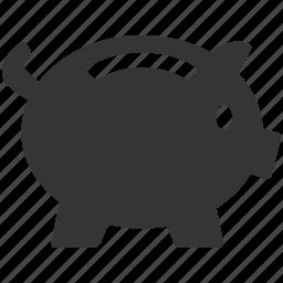 bank, banking, budget, money, piggy, savings icon