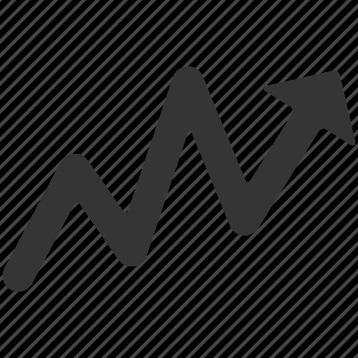 arrow, high, increase, profits, stock, upward icon