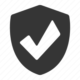 check, defense, protection, safe, security, shield icon