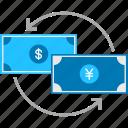 business, cash, dollar, exchange, money, payment, yen