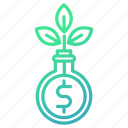 finance, funds, growth, investments, money icon