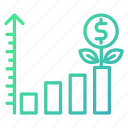 business, chart, finance, growth, investment icon