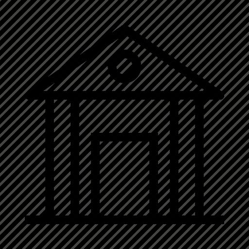 bank, building, estate, property icon