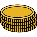 cash, coin, finance, payment, stack