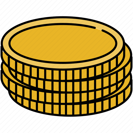 cash, coin, finance, payment, stack icon