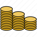 coin, finance, payment, stacks icon