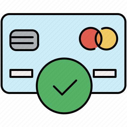 approve, card, complete, confirm, credit, finance, payment icon