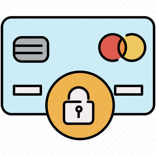 card, credit, finance, lock, payment, pin, security icon