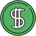 american, currency, dollar, finance, payment icon