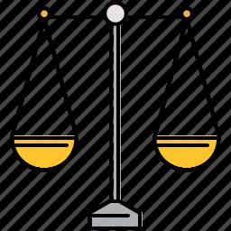 compare, even, finance, scale, weigh icon