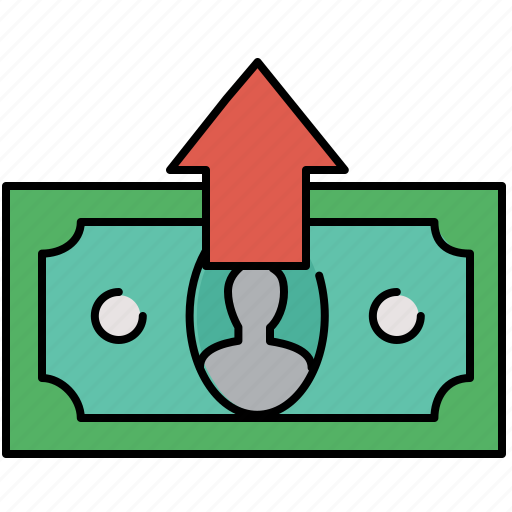 cash, extract, finance, give, payment icon