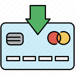 card, credit, finance, income, insert, payment icon