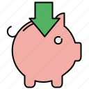 bank, finance, income, insert, piggy, piggybank, savings icon