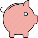 finance, piggy, safety, saving, savings icon