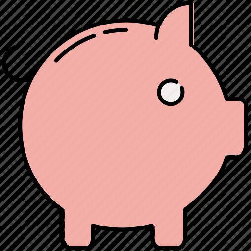 finance, piggy, safety, saving, savings icon