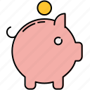 bank, coin, finance, piggy, piggybank, safety, savings icon