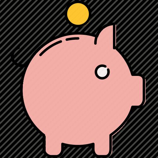 bank, coin, finance, piggy, piggybank, safety, savings icon