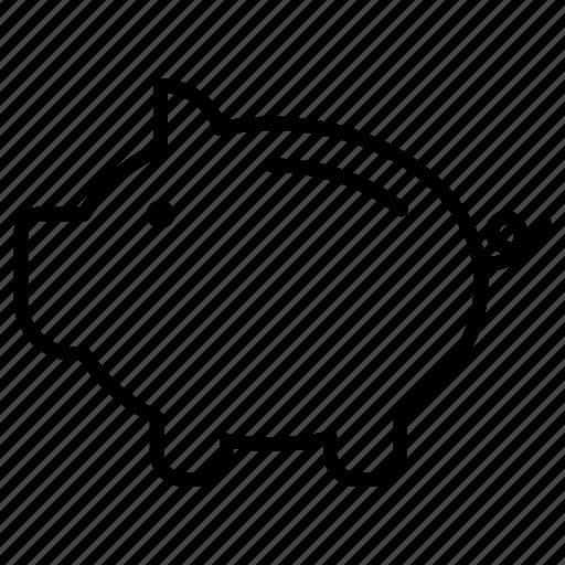 bank, money, piggy, save, savings icon